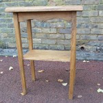 Oak bedside table from reclaimed timber West Dulwich SE21