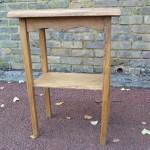 Oak bedside table from reclaimed timber West Dulwich SE21