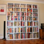 Modern freestanding bookcase without mouldings. Crystal Palace SE19