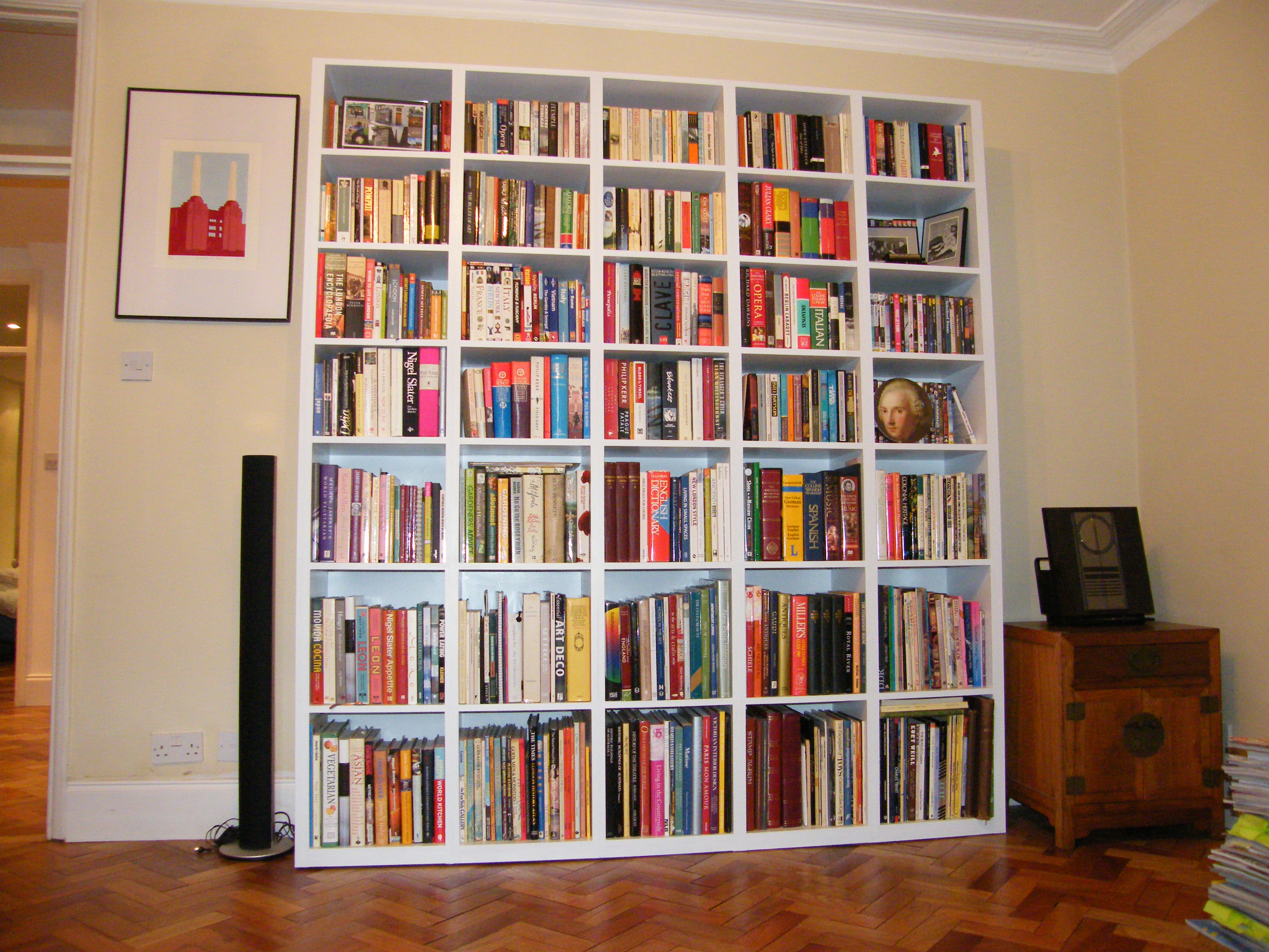Design Free Standing Bookshelves shelving bookcases brian white carpentry modern freestanding bookcase without mouldings crystal palace se19
