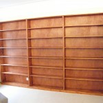 Redwood (pine) bookcase with teak stain. Herne Hill SE24.