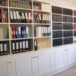 Cabinets and bookcase for grade 1 listed lawyer's office. Inner Temple EC4