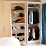 Fitted wardrobes along entire wall. Herne Hill SE24