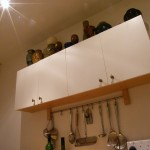 Softwood kitchen double wall cabinet. Brixton SW2