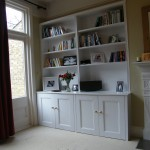 Twin alcove cabinet with bookcase. Beckenham Junction.