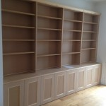 Unpainted MDF cabinets with bookcase. Penge