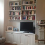 Traditional alcove cabinets with bookcase. Tooting