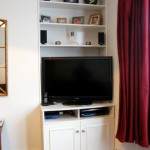 TV cabinet with DVD and SKY box section, and book shelves. Herne Hill SE24
